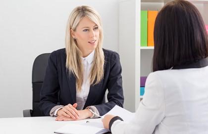 ראיון עבודה והודעה בדבר קבלה לעבודה
